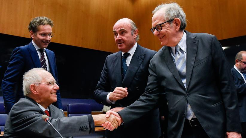 Wolfgang Schäuble: Der deutsche Finanzminister Wolfgang Schäuble in Luxemburg