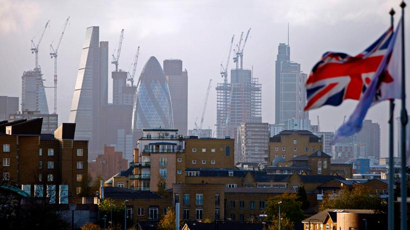 Europäische Union: Blick auf den Londoner Finanzdistrikt