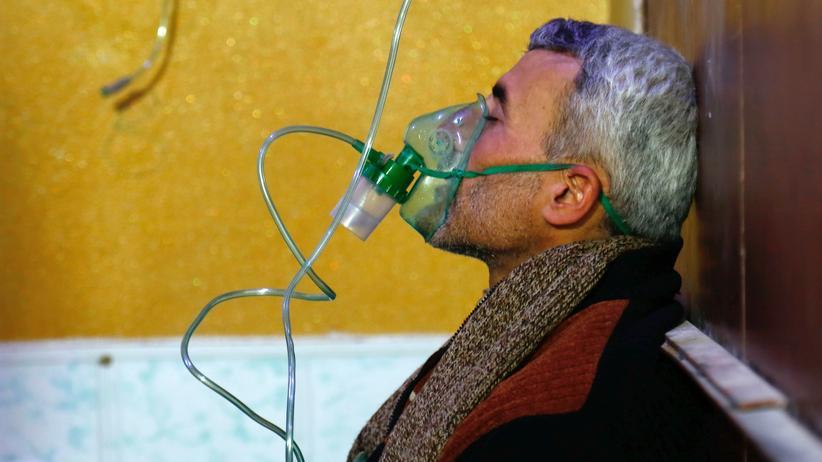 Syrien: In einem provisorischen Krankenhaus in Duma in der Region Ostghuta in Syrien nach einem Gasangriff im Januar 2018