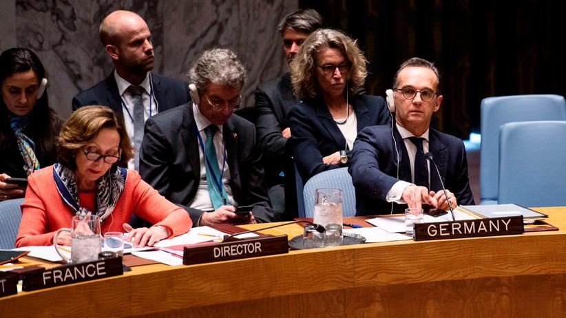 Heiko Maas: Zwischen Frankreich und Indonesien: Bundesaußenminister Heiko Maas während der Sitzung des UN-Sicherheitsrats unter deutschem Vorsitz.
