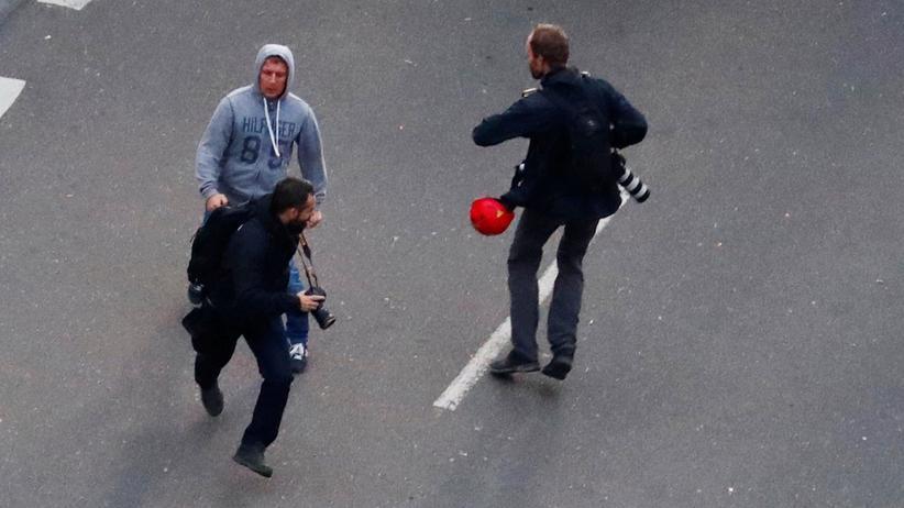 Sieben Jahre Haft für den mutmaßlichen Reichsbürger: Bei Protesten in Chemnitz am 1. September 2018 attackierte ein AfD-Mitglied Journalisten.