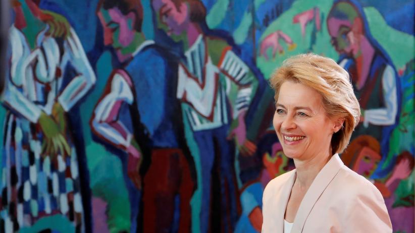 EU-Kommissionspräsidentin: Ursula von der Leyen vor einer Kabinettssitzung in Berlin