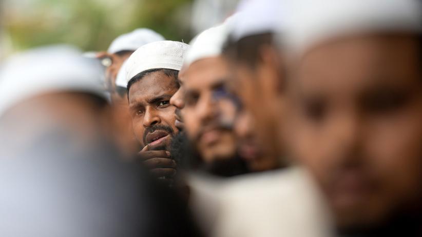 Nationalismus: Ein Aktivist des islamischen Andolan Bangladesh bei einem Protest gegen die jüngste Situation in Kaschmir im benachbarten Indien