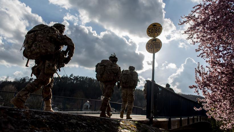 Verteidigungspolitik: US-Soldaten bei einer militärischen Übung in Grafenwöhr