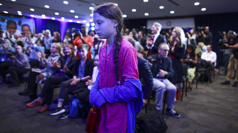 Vereinte Nationen: Greta Thunberg bei einer Pressekonferenz in New York