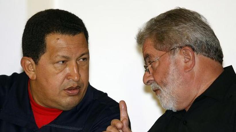 Hugo Chavez ,  Lula da Silva aus Brasilien