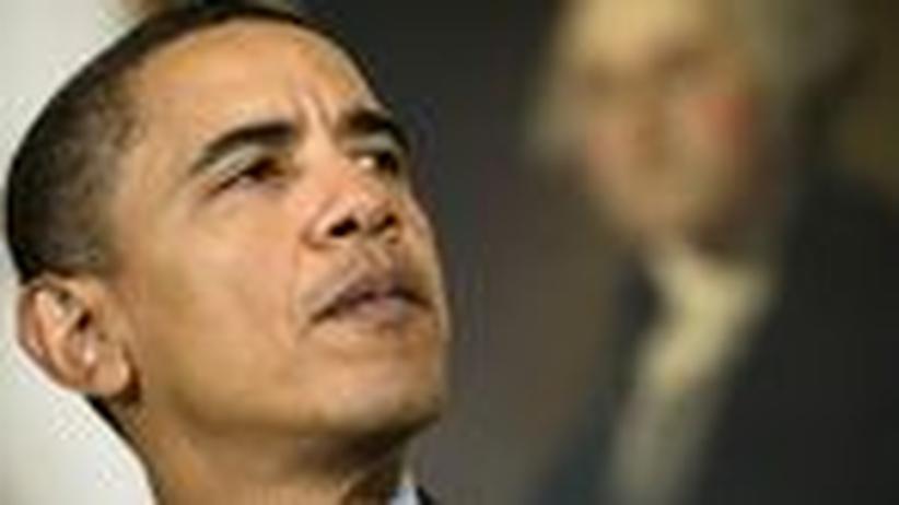USA: Sie spucken auf Obamas Hand