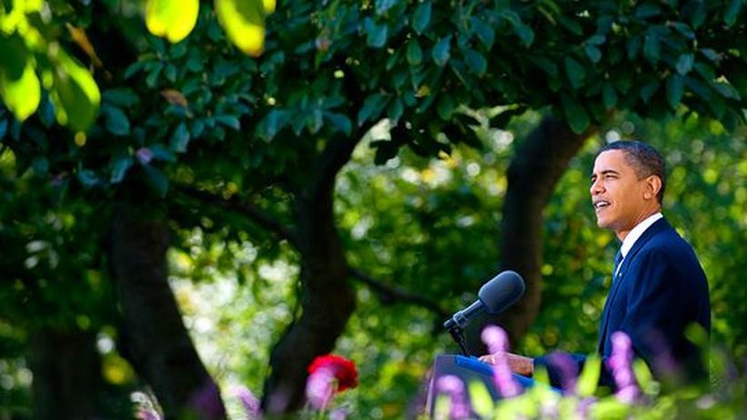 Friedensnobelpreis für Obama: Hoffnungsträger für viele: Barack Obama im Rosengarten des Weißen Hauses