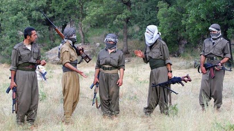 Friedensangebote: Der bewaffnete Kampf ist noch nicht vorbei: Mitglieder der PKK bewachen im Nordirak das Kurdengebiet