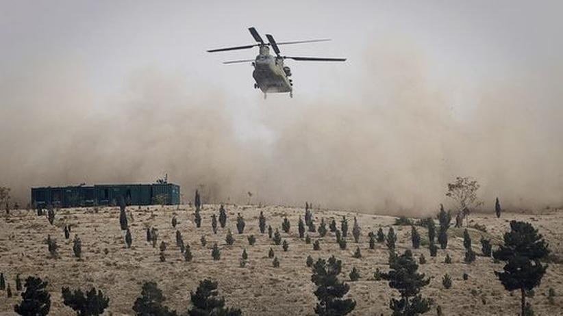 Großoffensive gegen die Taliban: Die US-Luftwaffe, hier ein Chinook-Helikopter, hat Kampfverbände der Islamisten in der Provinz Kundus tagelang angegriffen