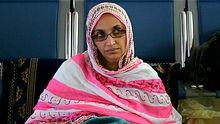 Aminatou Haidar im Flughafen auf Lanzarote: Die Frau ist seit 19 Tagen im Hungerstreik