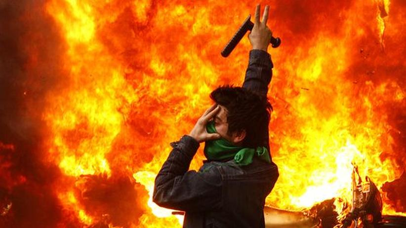 Demonstrant in Teheran