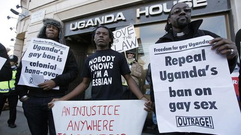 Demonstration gegen das Anti-Homosexualitäts-Gesetz