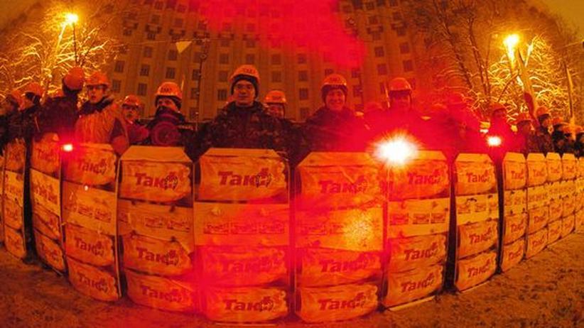 Präsidentschaftswahl in der Ukraine: Eisiger Winter 2004: In Kiew protestierten Hunderttausende gegen Wahlfälschungen