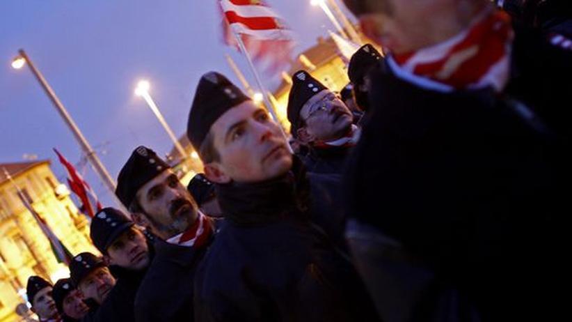 Marsch der rechtsradikalen Partei Jobbik