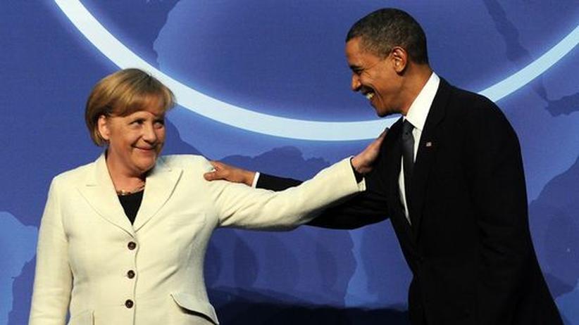 Bundeskanzlerin Angela Merkel (CDU) und US-Präsident Barack Obama im Washington Convention Center während Atomgipfels