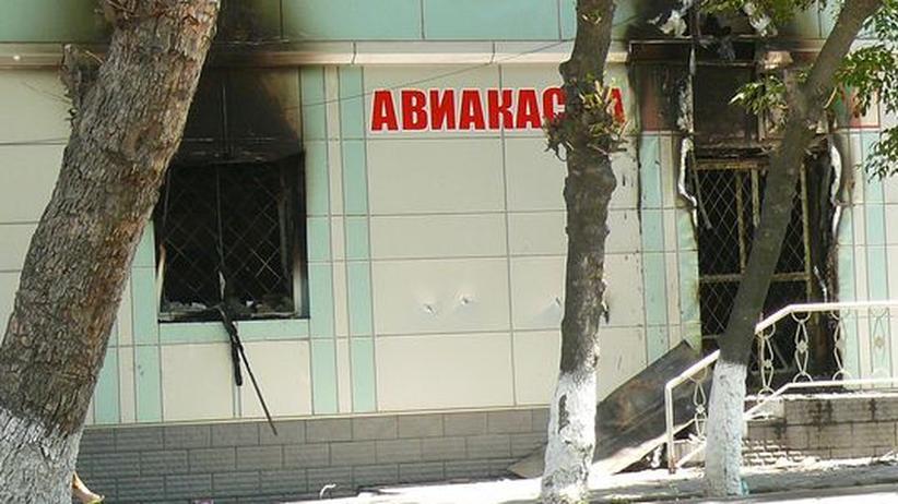 Airline-Büro in der südkirgisischen Stadt Osch