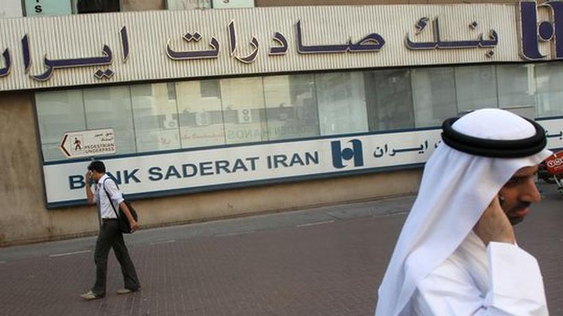 Atomstreit: Bank Saderat Iran in Dubai: Die schärferen US-Sanktionen gegen Iran beziehen sich vor allem auf den Energie- und Bankensektor