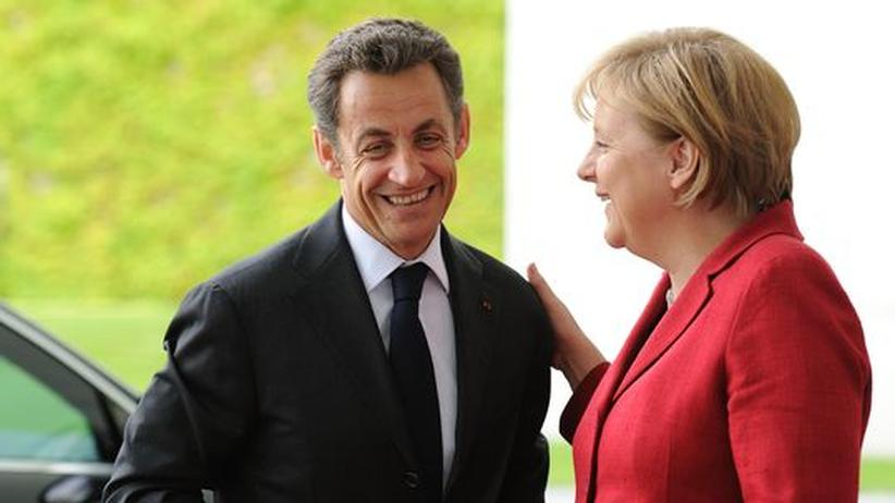 Staatspräsident Sarkozy und Bundeskanzlerin Merkel