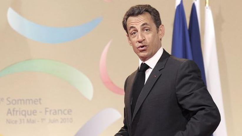 Frankreichs Staatspräsident Nicolas Sarkozy