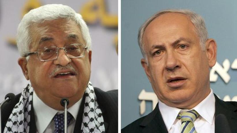 Palästinenserpräsident Abbas (l.) und Israels Premier Netanjahu