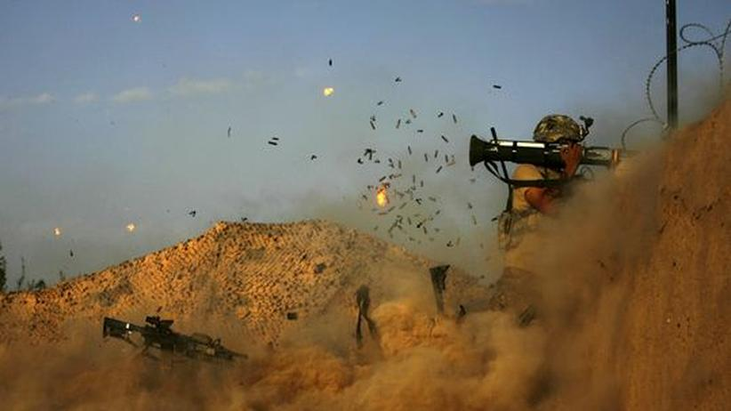 Ein US-Soldat der 101st Airborne Division im Gefecht in der Nähe des Dorfes Jellawar