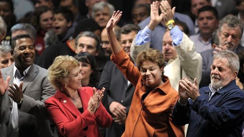 Brasiliens Praesident Luiz Inacio Lula da Silva und Dilma Rousseff