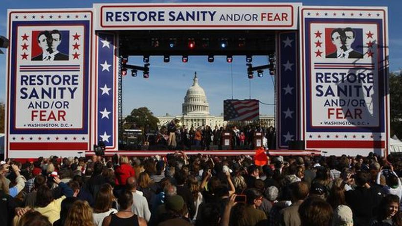 US-Kongresswahlen: Mit Kabarett und Karneval gegen Politfrust und Tea-Party