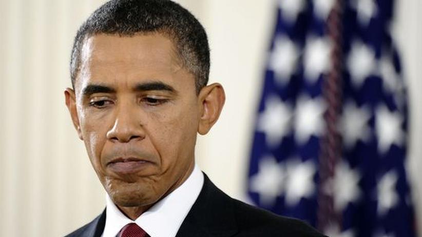 USA: US-Präsident Barack Obama während einer Pressekonferenz am Tag der Kongresswahlen