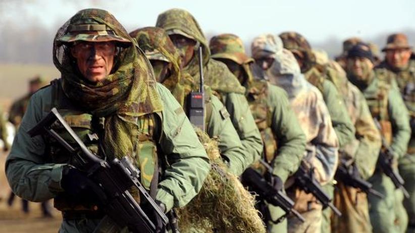 Nato-Gipfel: Kroatische Soldaten bei einer Übung