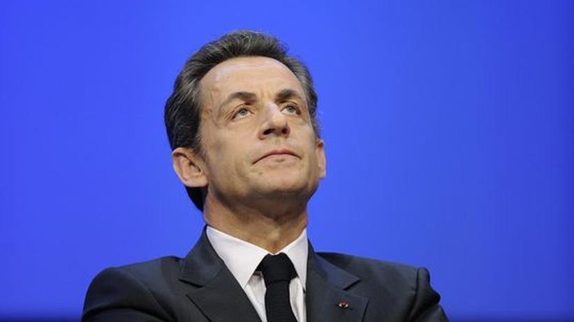Frankreichs Präsident Nicolas Sarkozy auf einer Konferenz Ende November in Paris