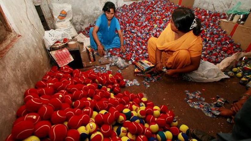 Manufaktur für Sportgeräte im indischen  Jalandhar