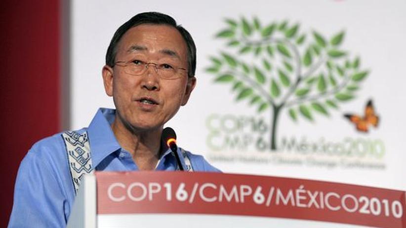 Klimaschutz-Tagung Cancún: UN-Generalsekretär Ban Ki Moon in Cancùn