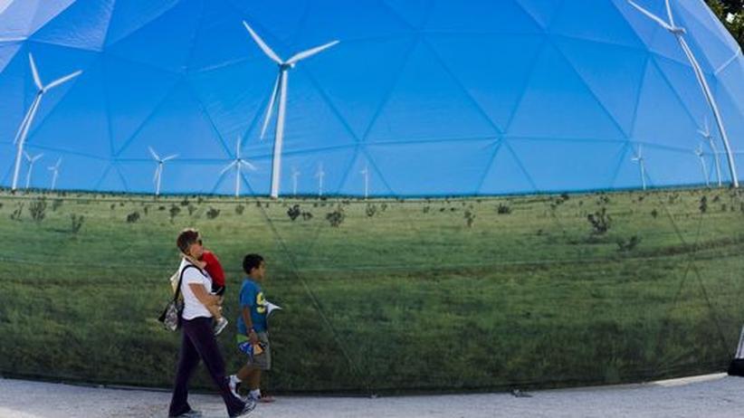 Werbung für Windenergie in Cancún