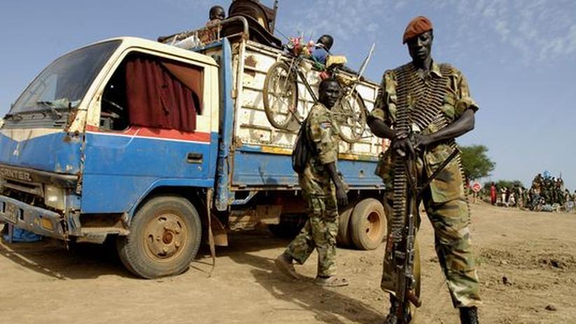 Soldaten der People's Liberation Army (SPLA) im Süd-Sudan, Juli, 2008