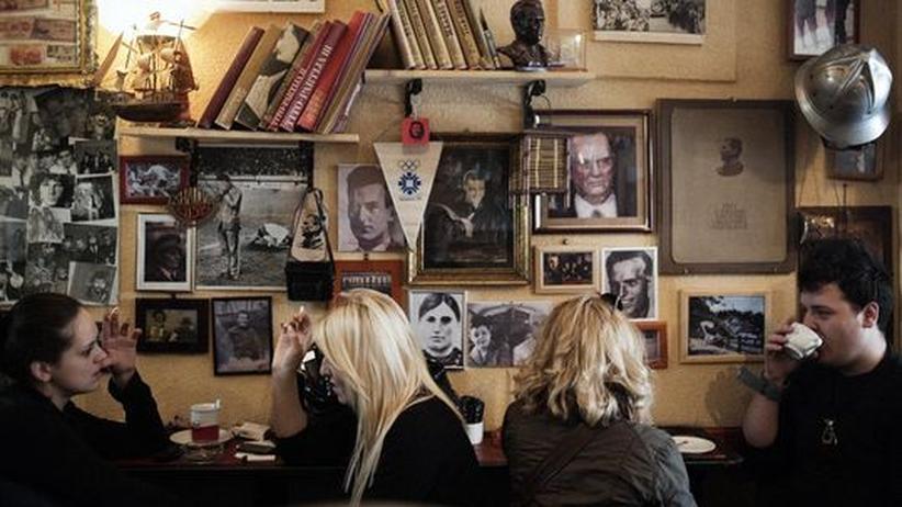 Tito ist allgegenwärtig - auch in diesem Café