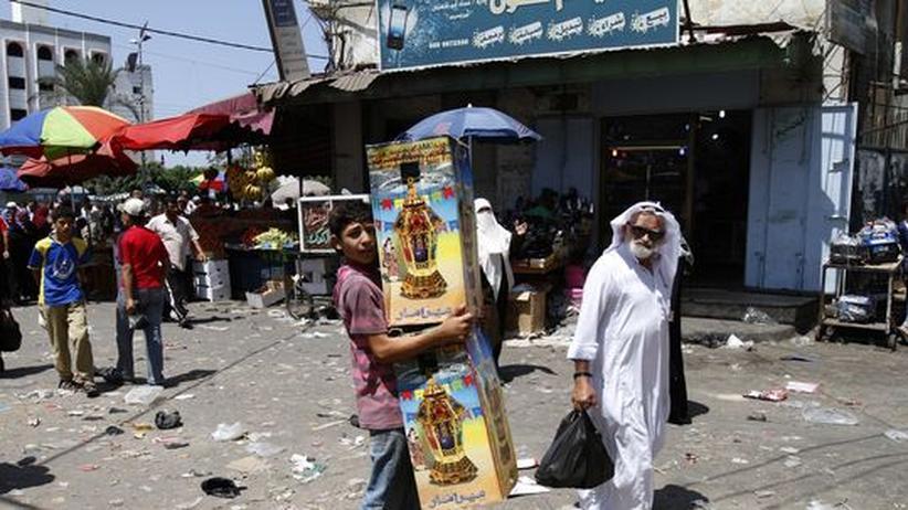 Straßenszene in Gaza-Stadt