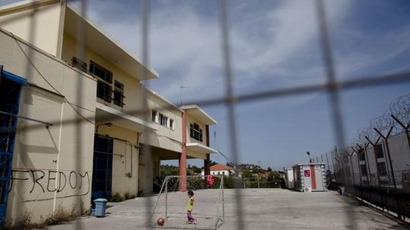 Auffanglager auf der griechischen Insel Lesbos