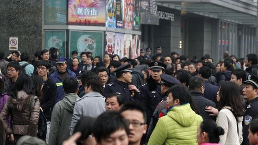 """""""Jasmin-Revolution"""": Polizei verhindert Protest in China"""