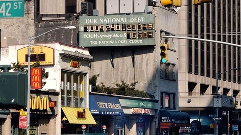 Die Schuldenuhr in New York