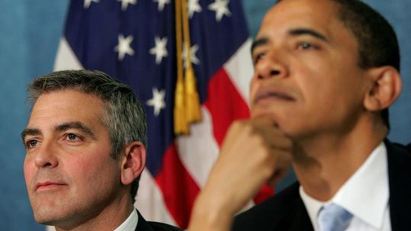 Schauspieler George Clooney (links) und US-Präsident Barack Obama (Archivbild)