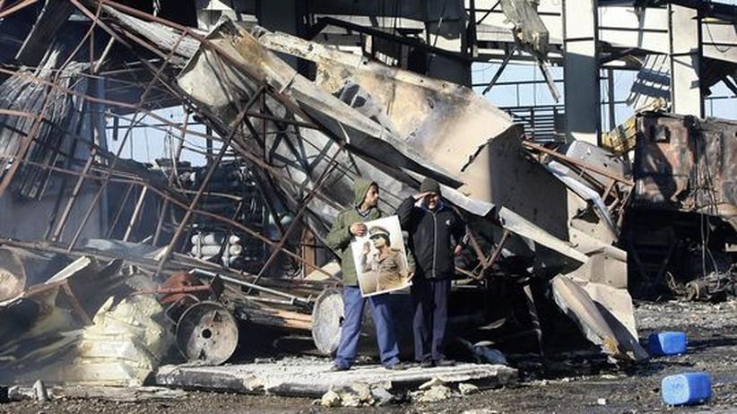 Stützpunkt der libyschen Marine bei Tripolis