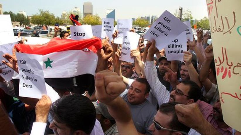 Unruhen: 20.000 Syrier bei Beisetzung von Demonstranten