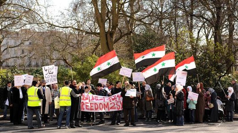 Arabische Protestwelle: Das syrische Regime lässt auf Demonstranten feuern