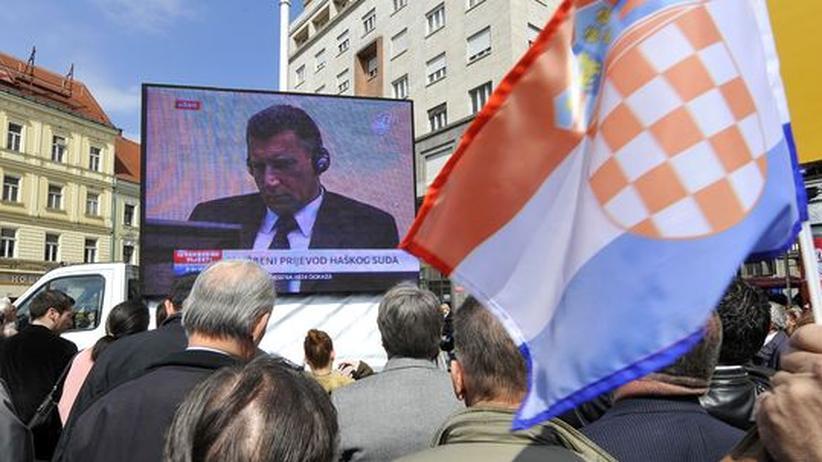 Kriegsverbrechen: Kroaten empört über Gotovinas Verurteilung