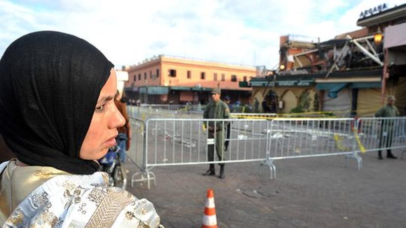 Anschlag in Marokko: Am Ort des Anschlags: Das Café Argana in Marrakesch