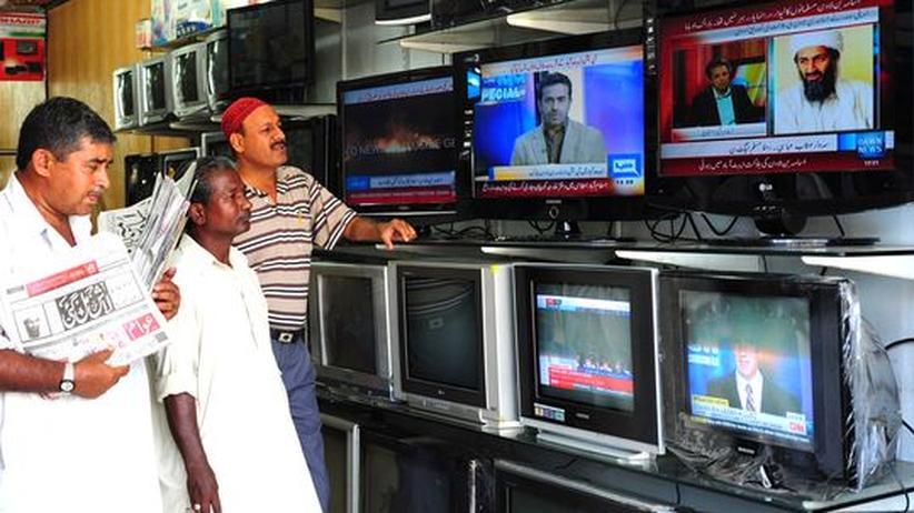 Bin Ladens Tod: In einem Laden in der pakistanischen Hafenstadt Karachi