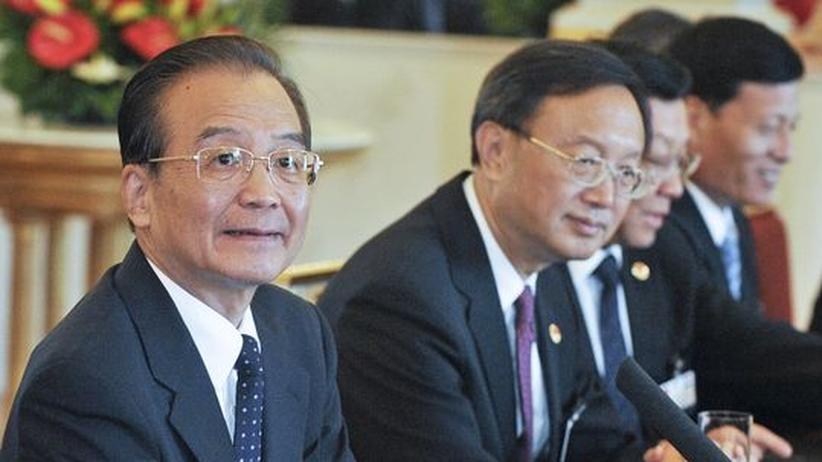 Wen Jiabao bei Merkel: Geschäfte machen, über Menschenrechte reden