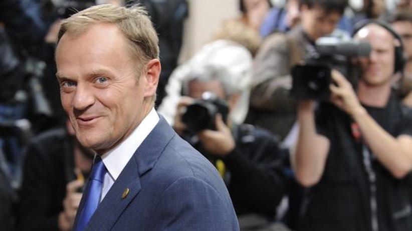 EU-Ratspräsidentschaft: Der polnische Premierminister Donald Tusk während eines Besuchs in Brüssel