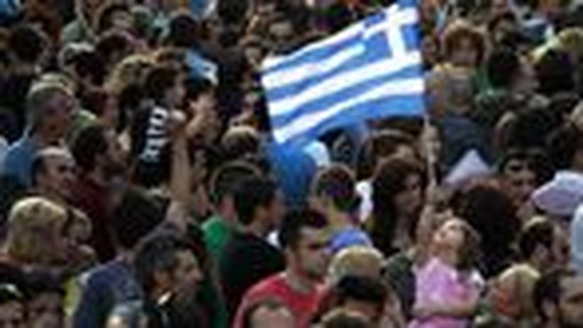 Junge Griechen: Im Zeltlager der Revolution